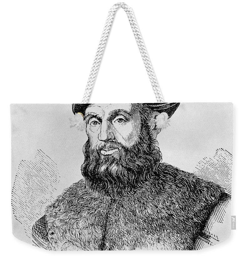 15th Century Weekender Tote Bag featuring the photograph Ferdinand Magellan by Granger
