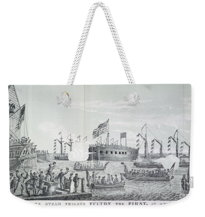 1814 Weekender Tote Bag featuring the photograph Fulton Steam Frigate, 1814 by Granger