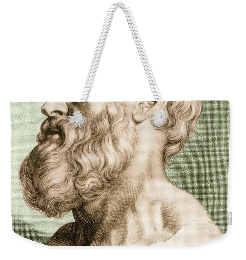 Hippocrates Weekender Tote Bag featuring the photograph Hippocrates, Greek Physician by Science Source