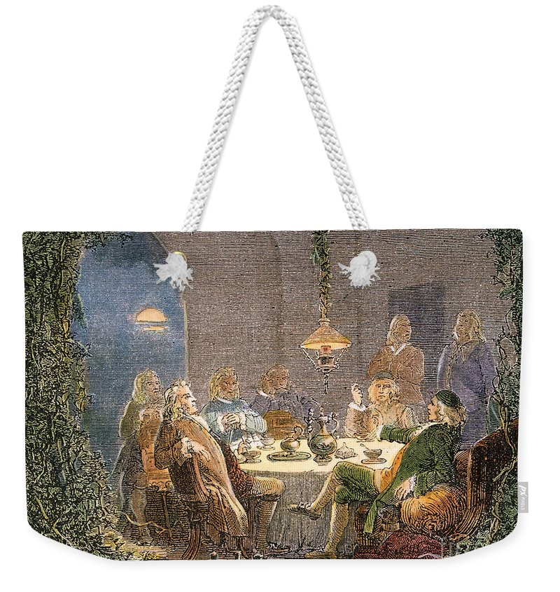 18th Century Weekender Tote Bag featuring the photograph James Watt (1736-1819) by Granger