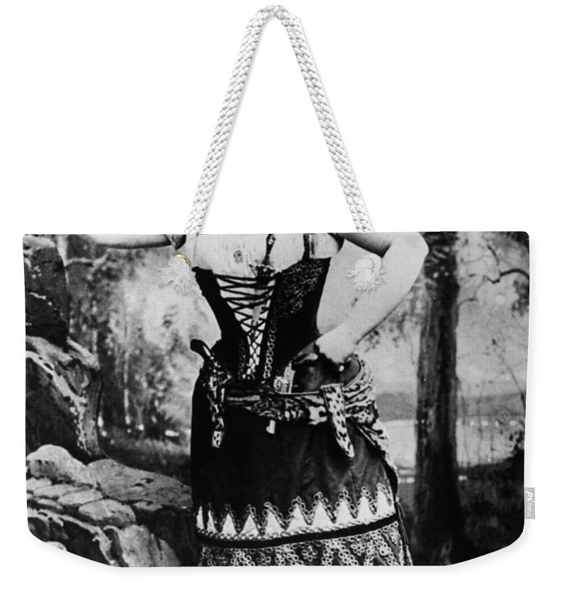 1889 Weekender Tote Bag featuring the photograph Lillian Russell (1861-1922) by Granger
