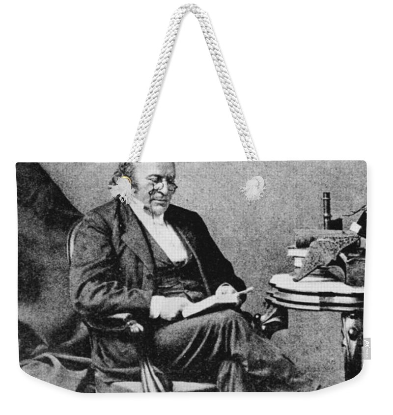 Science Weekender Tote Bag featuring the photograph Louis Agassiz, Swiss-american Polymath by Science Source