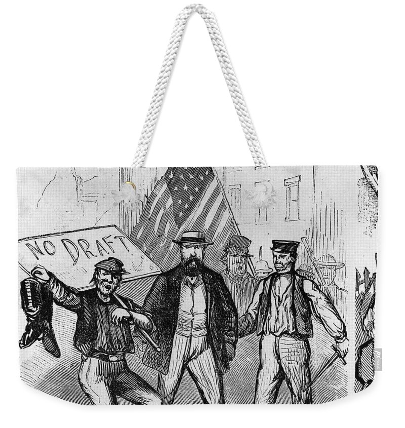 1863 Weekender Tote Bag featuring the photograph New York: Draft Riots, 1863 by Granger