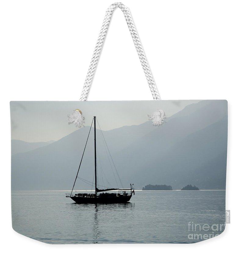 Sailing Boat Weekender Tote Bag featuring the photograph Sailing Boat by Mats Silvan