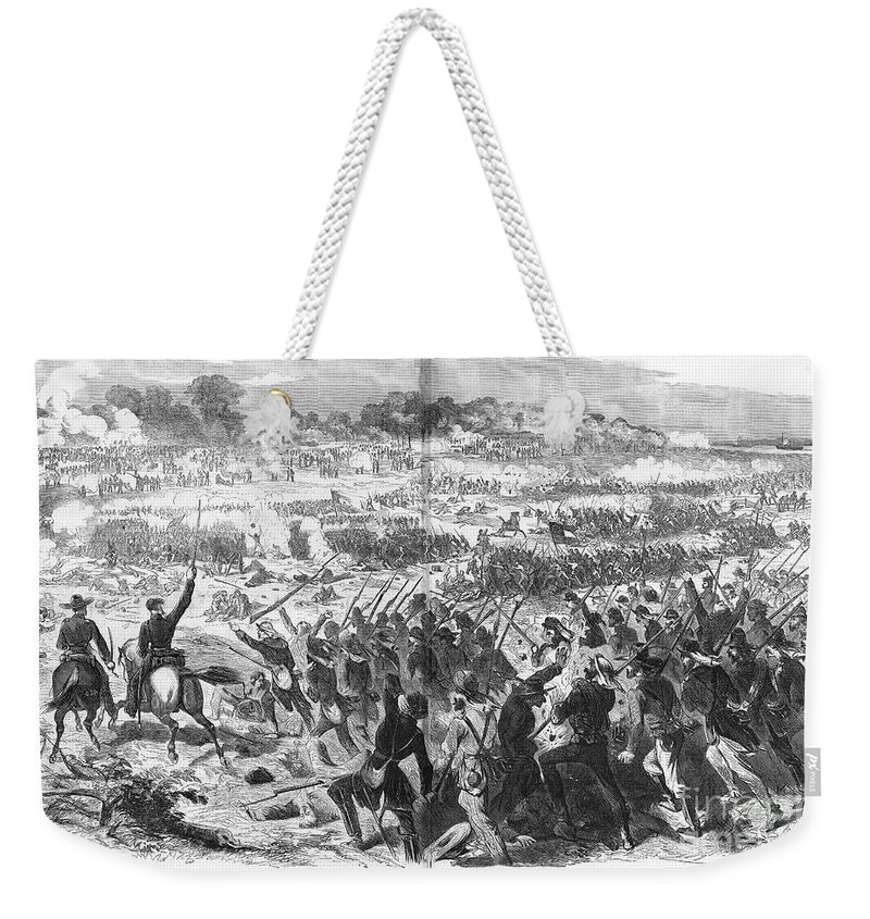 1862 Weekender Tote Bag featuring the photograph Seven Days Battles, 1862 by Granger