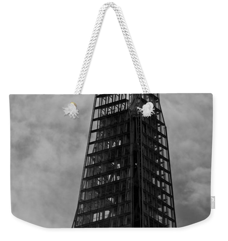 The Shard Weekender Tote Bag featuring the photograph The Shard by David Pyatt