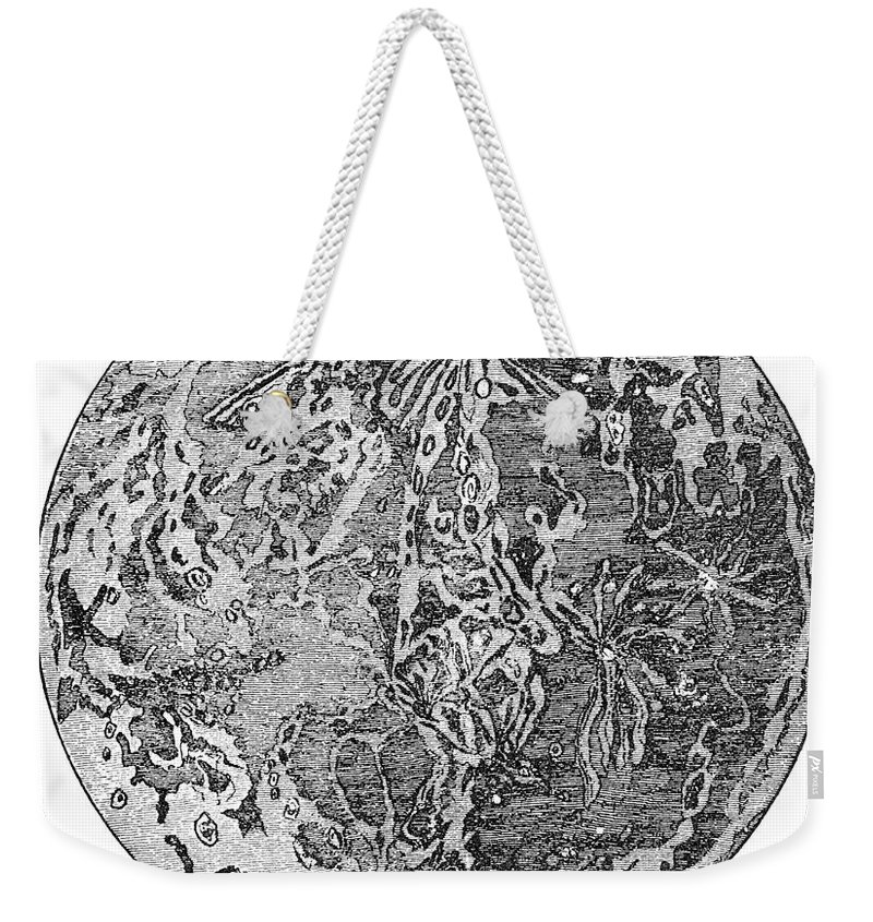19th Century Weekender Tote Bag featuring the photograph Verne: Earth To Moon by Granger