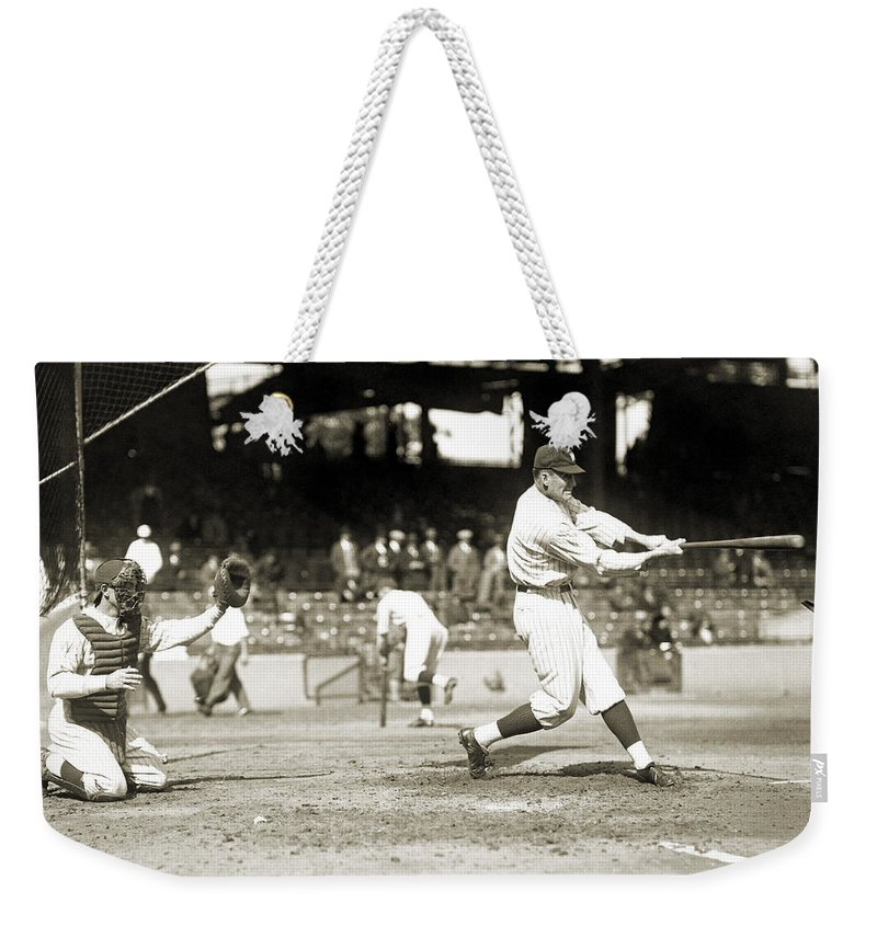 1922 Weekender Tote Bag featuring the photograph Walter Perry Johnson by Granger