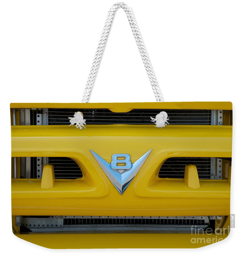 1953 Ford Pickup Truck Street Rod Weekender Tote Bag featuring the photograph 53 Ford Truck by Mark Dodd