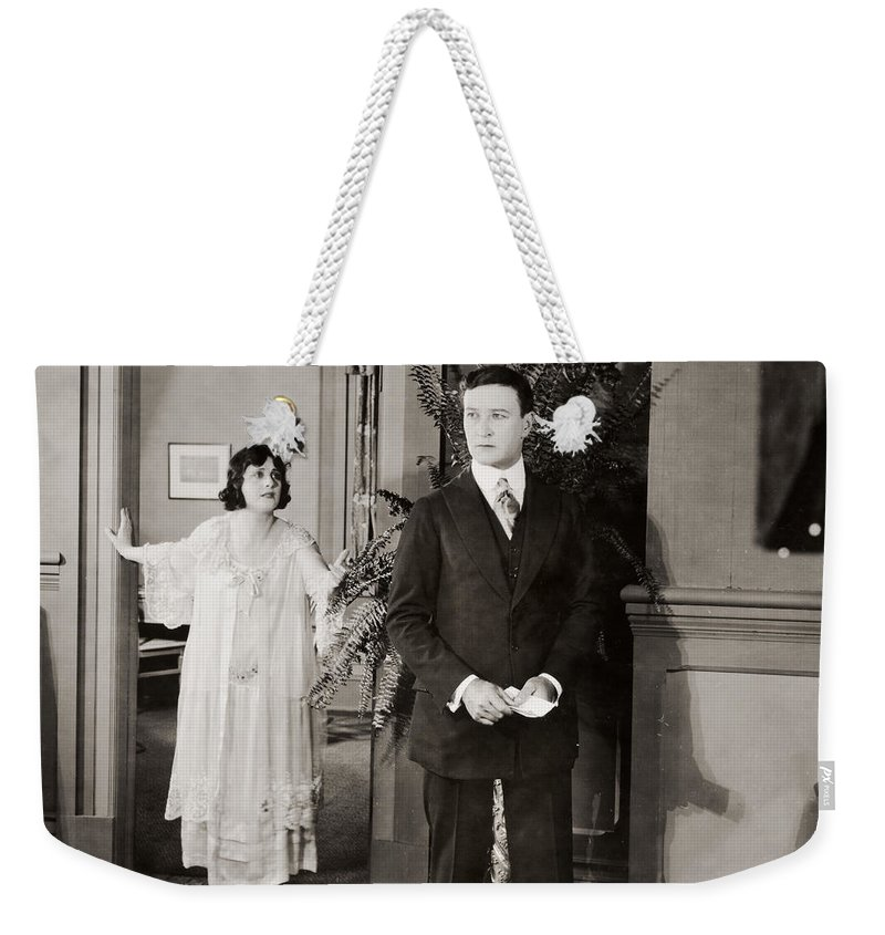 -couples- Weekender Tote Bag featuring the photograph Silent Film Still: Couples by Granger