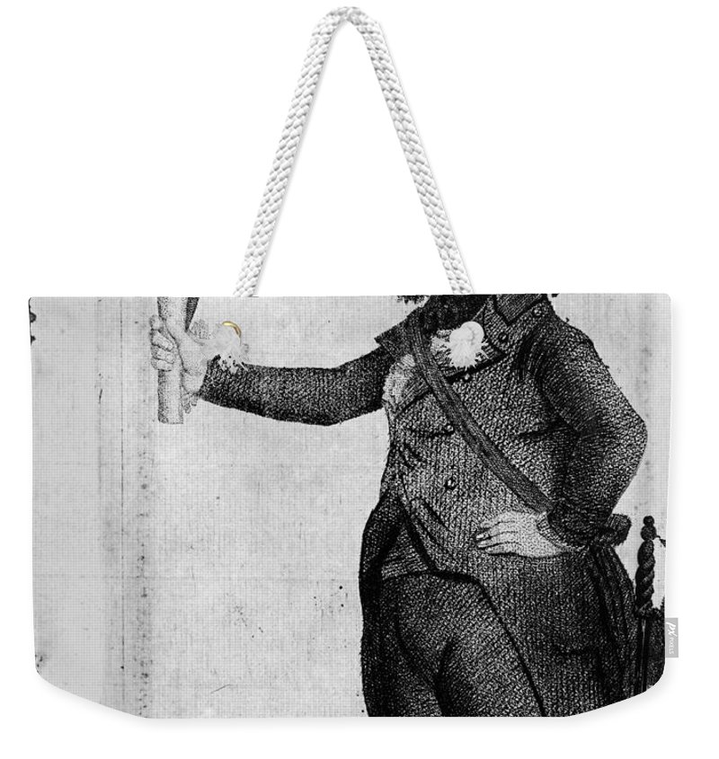 1800 Weekender Tote Bag featuring the photograph George Washington by Granger