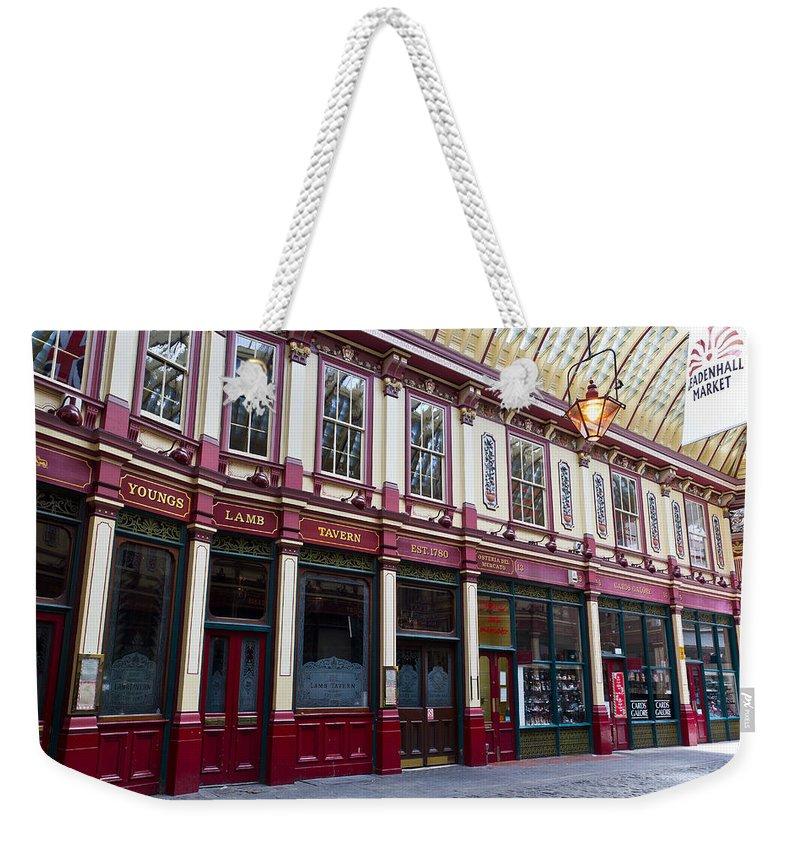 Leadenhall Weekender Tote Bag featuring the photograph Leadenhall Market London by David Pyatt