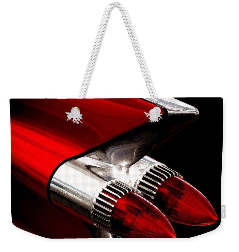 Tail Light Weekender Tote Bags