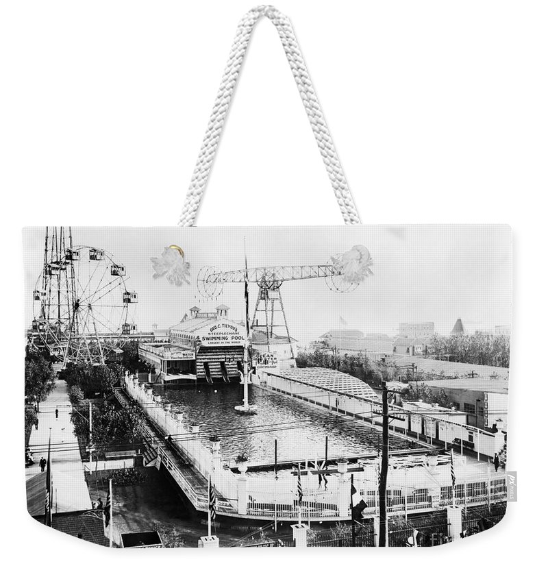 1912 Weekender Tote Bag featuring the photograph Steeplechase Pool by Granger
