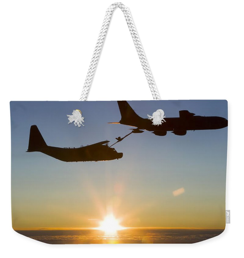Transportation Weekender Tote Bag featuring the photograph A Mc-130h Combat Talon II by Gert Kromhout