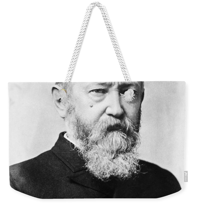 1888 Weekender Tote Bag featuring the photograph Benjamin Harrison by Granger