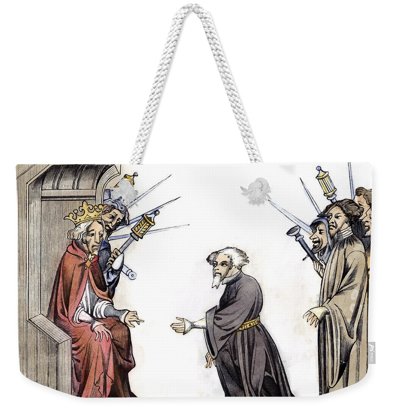 8th Century Weekender Tote Bag featuring the photograph Charlemagne (742-814) by Granger