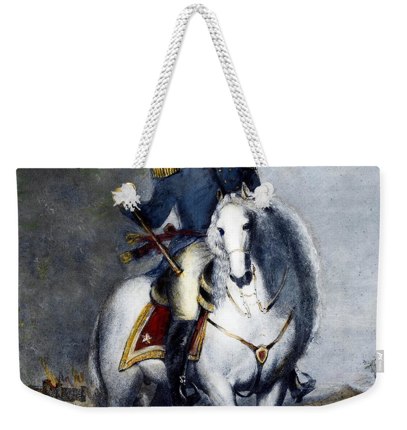 1852 Weekender Tote Bag featuring the photograph Franklin Pierce (1804-1869) by Granger
