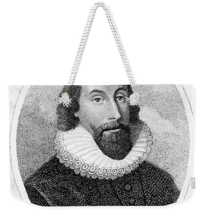 17th Century Weekender Tote Bag featuring the photograph John Winthrop (1588-1649) by Granger
