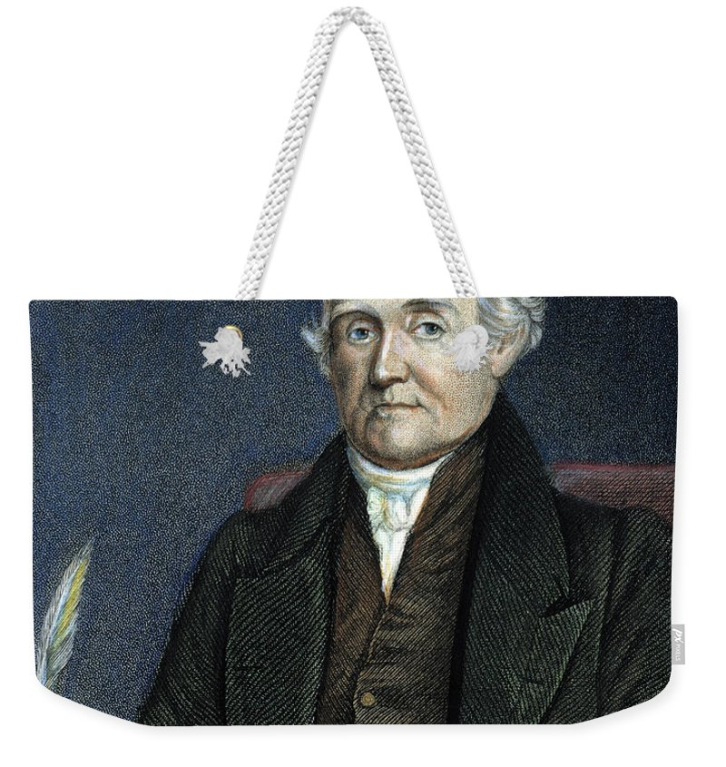 18th Century Weekender Tote Bag featuring the photograph Noah Webster (1758-1843) by Granger