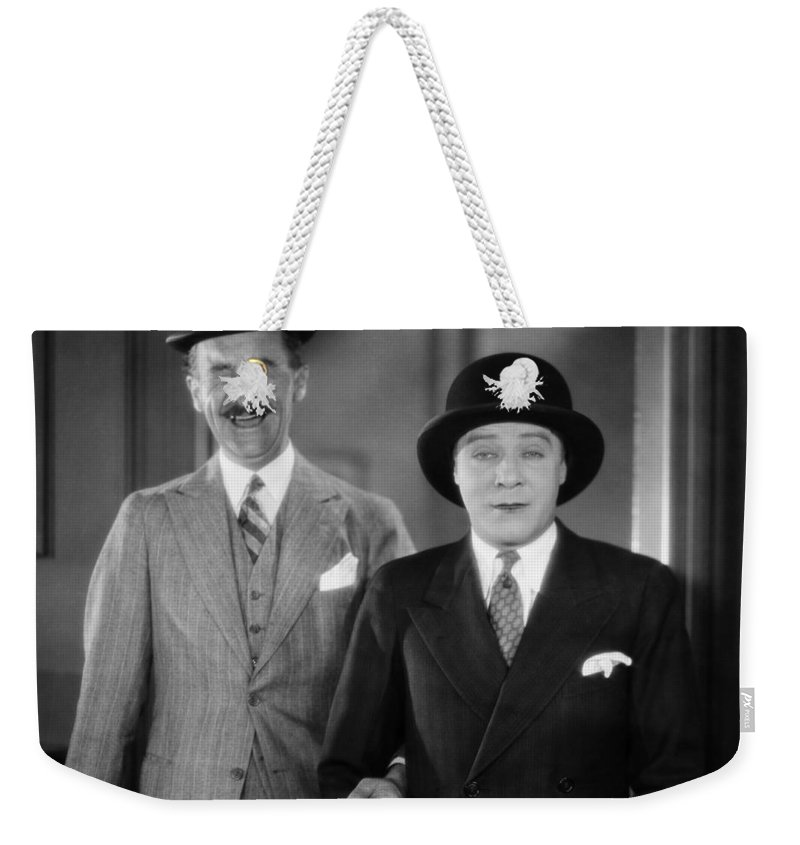 -hats- Weekender Tote Bag featuring the photograph Silent Film Still by Granger