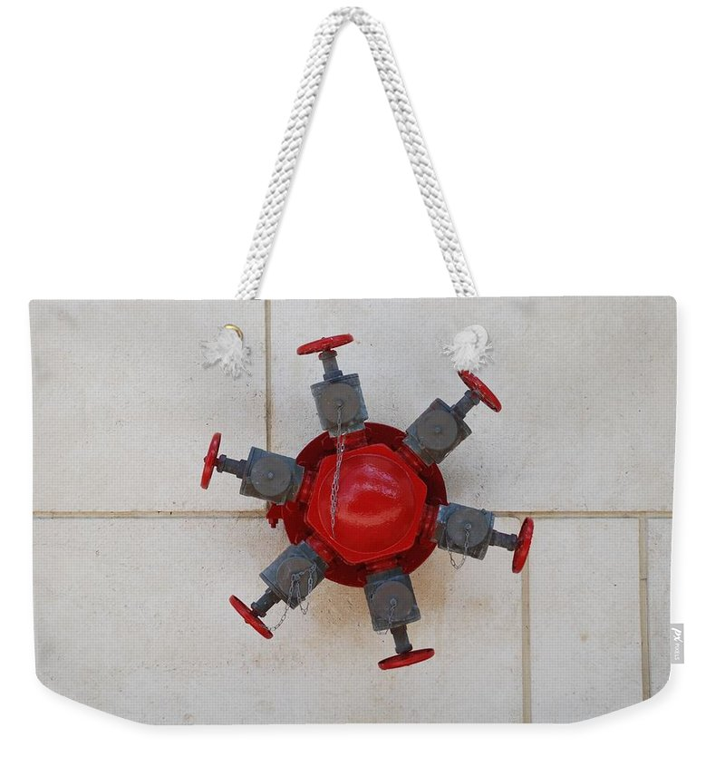 Mechanical Weekender Tote Bag featuring the photograph 6 Valve by Rob Hans
