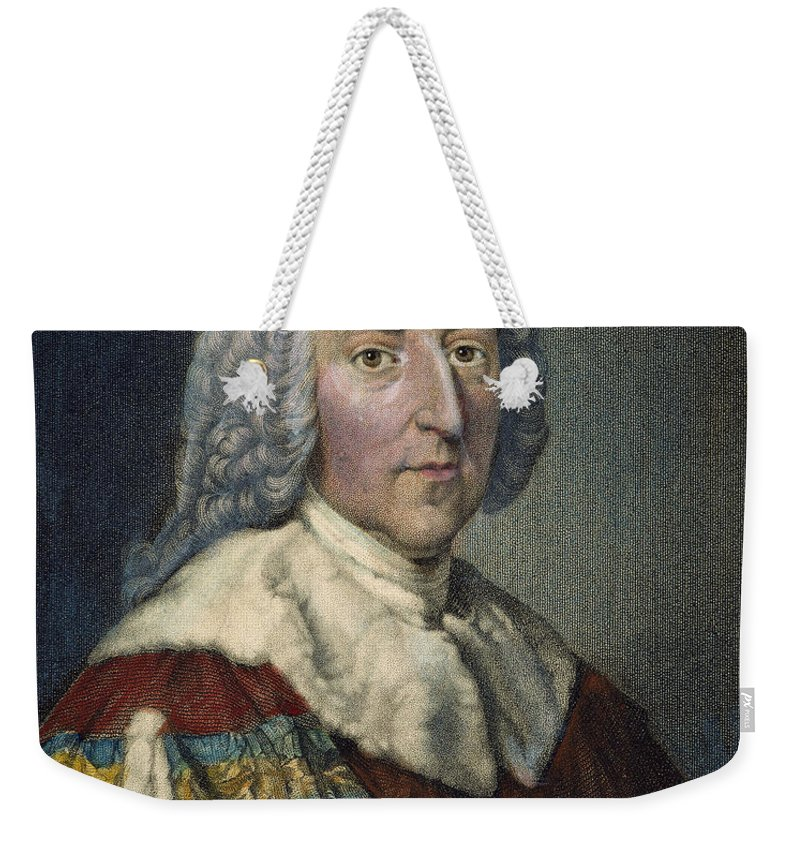 18th Century Weekender Tote Bag featuring the photograph William Pitt (1708-1778) by Granger