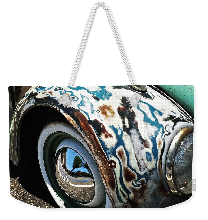 Volkswagon Weekender Tote Bag featuring the photograph 61 Volkswagon Bug by Gwyn Newcombe