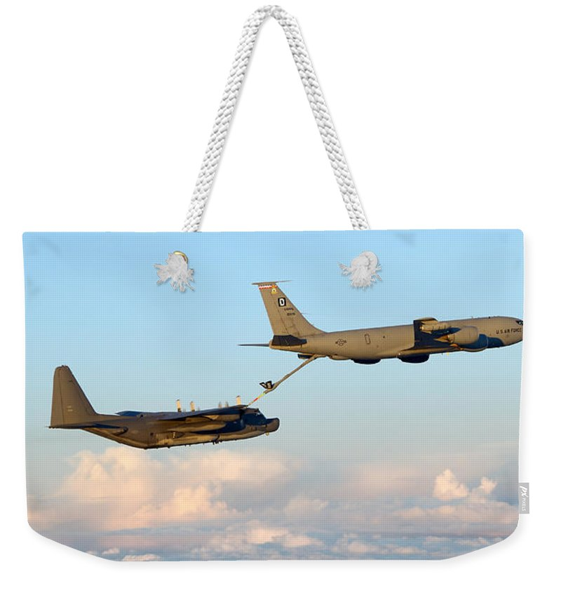 No People Weekender Tote Bag featuring the photograph A Mc-130h Combat Talon II by Gert Kromhout