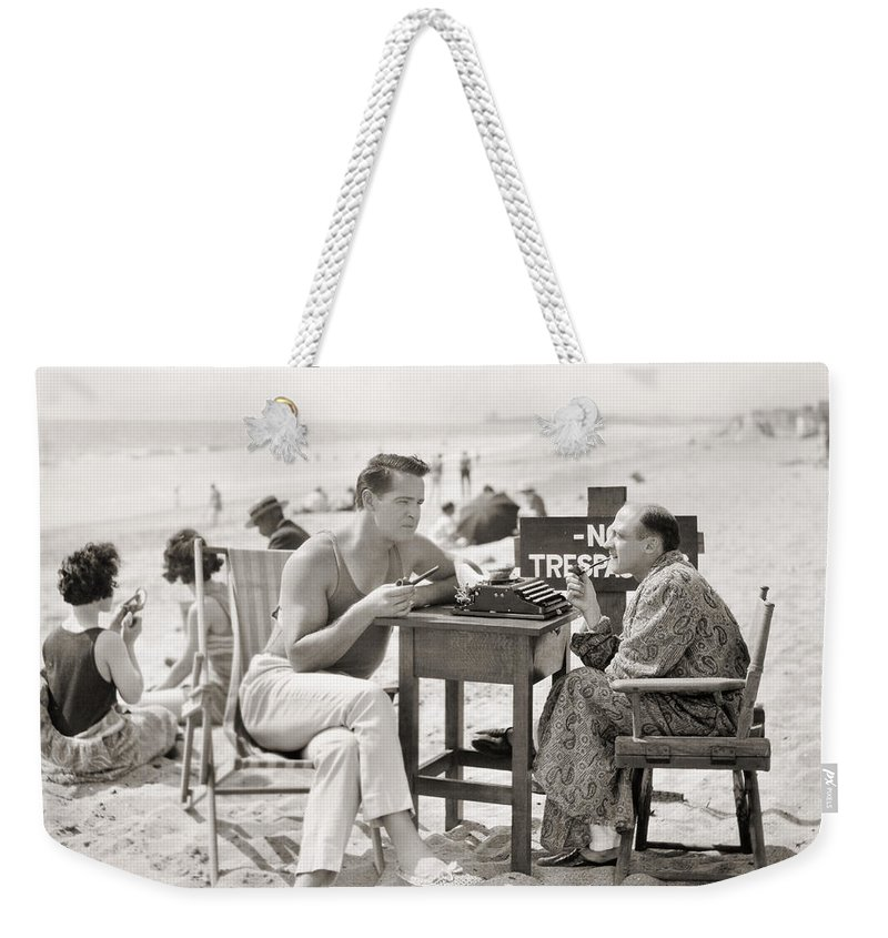-beaches- Weekender Tote Bag featuring the photograph Film Still: Beach by Granger