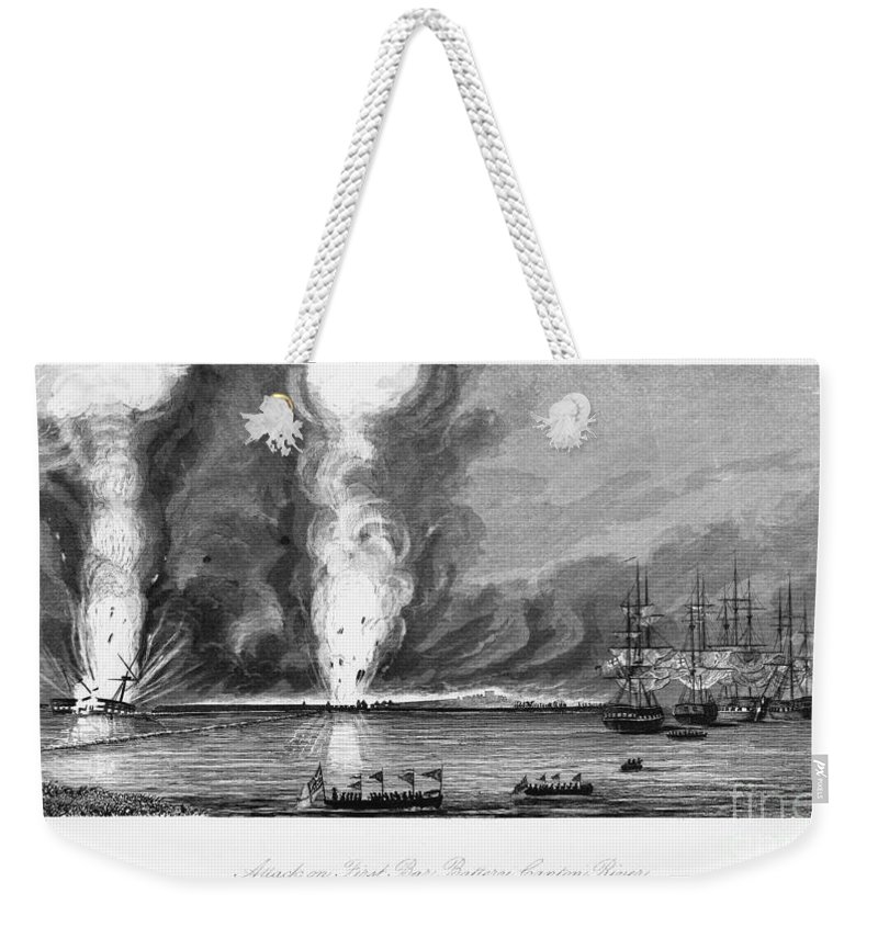 1843 Weekender Tote Bag featuring the photograph First Opium War, 1841 by Granger