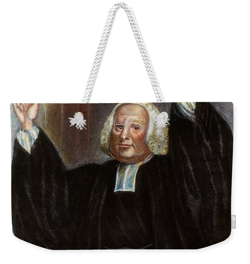 18th Century Weekender Tote Bag featuring the photograph George Whitefield by Granger