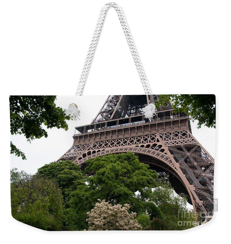 France Paris Weekender Tote Bag featuring the digital art Paris by Carol Ailles