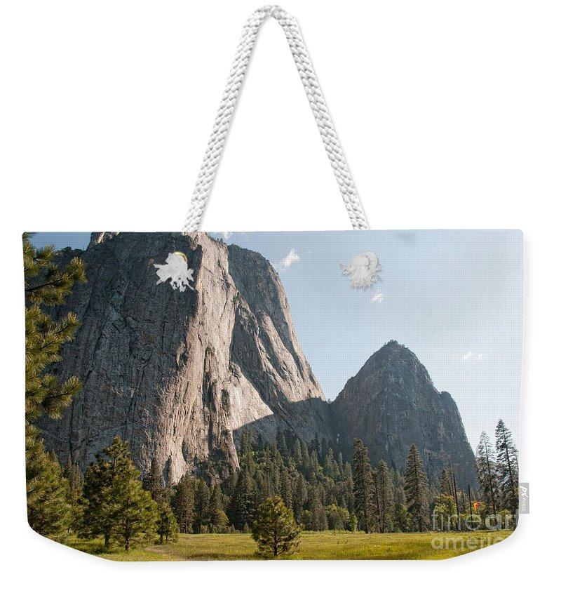 California Weekender Tote Bag featuring the digital art Yosemite by Carol Ailles