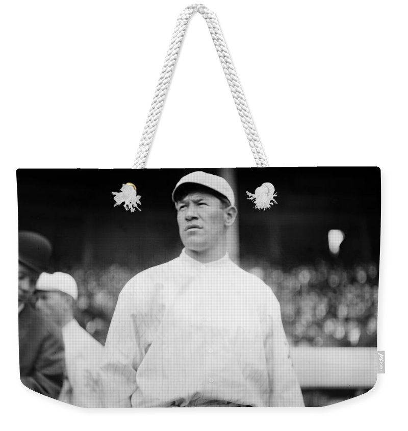 1913 Weekender Tote Bag featuring the photograph Jim Thorpe (1888-1953) by Granger
