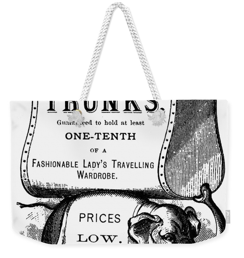 19th Century Weekender Tote Bag featuring the photograph Mortised Cut, 19th Century by Granger