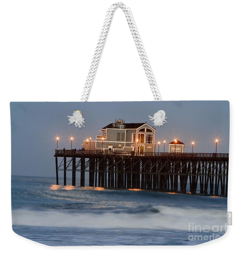 Oceanside Weekender Tote Bag featuring the photograph 8038 by Daniel Knighton