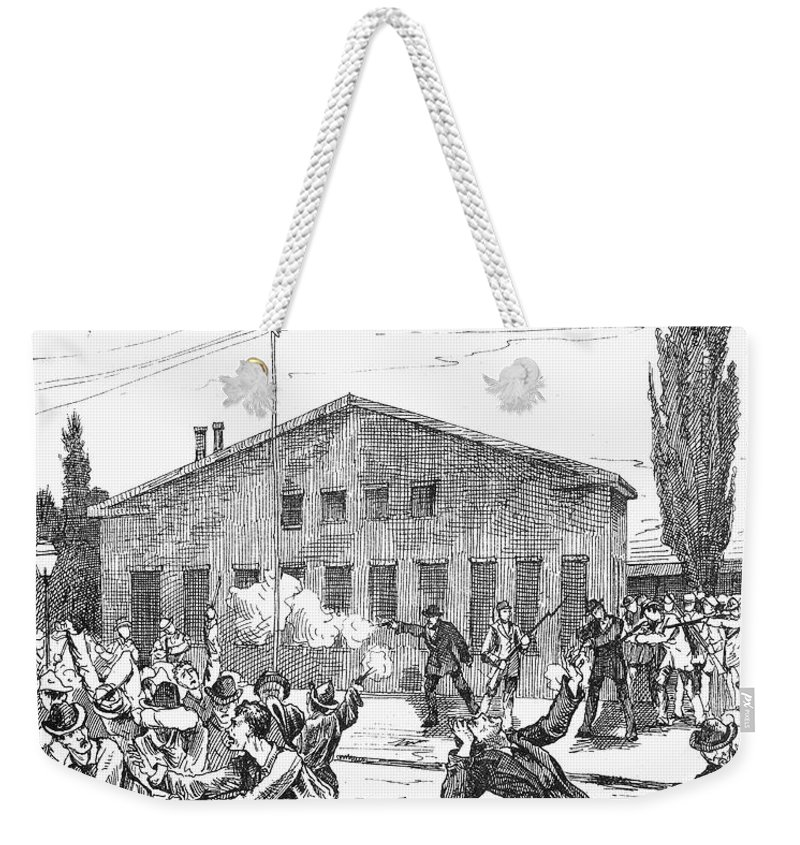 1877 Weekender Tote Bag featuring the photograph Great Railroad Strike, 1877 by Granger