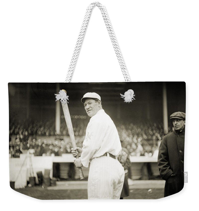 1918 Weekender Tote Bag featuring the photograph Jim Thorpe (1888-1953) by Granger