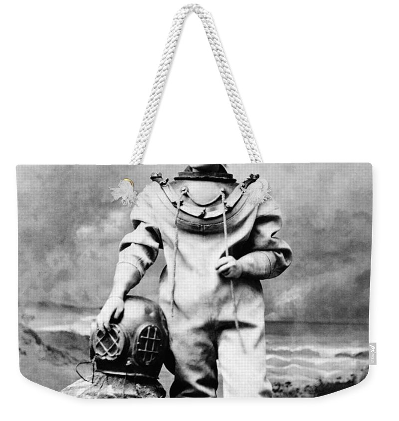 1880 Weekender Tote Bag featuring the photograph Sarah Bernhardt (1844-1923) by Granger
