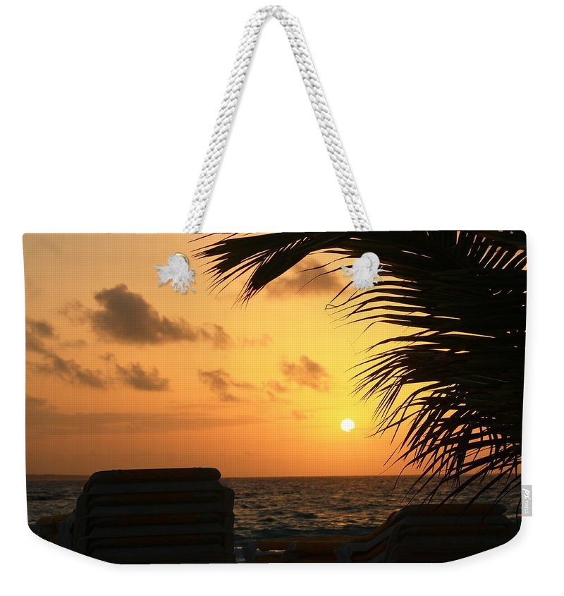 St. Maarten Weekender Tote Bag featuring the photograph A Beautiful Morning by Catie Canetti