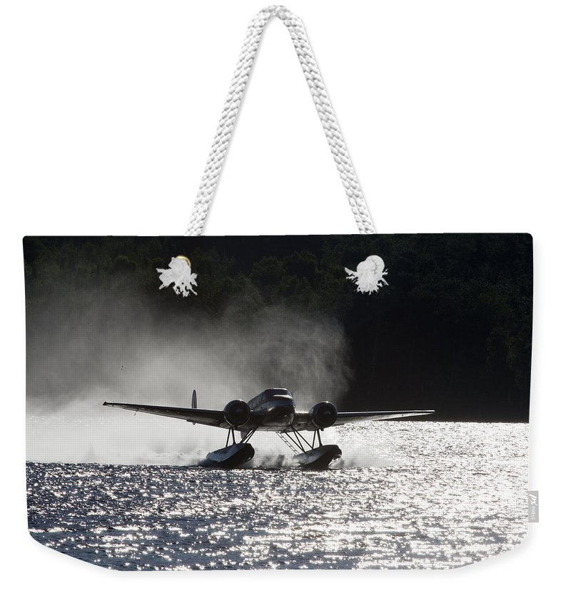 Color Image Weekender Tote Bag featuring the photograph A Beechcraft D-18s Floatplane ,built by Pete Ryan
