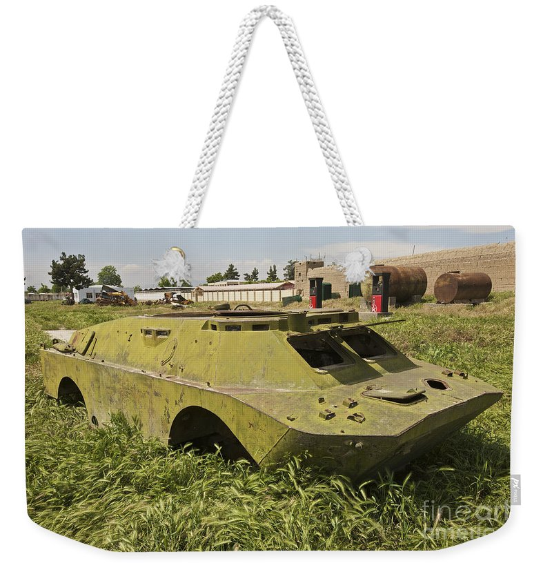 4x4 Weekender Tote Bag featuring the photograph A Brdm-2 Combat Reconnaissancepatrol by Terry Moore
