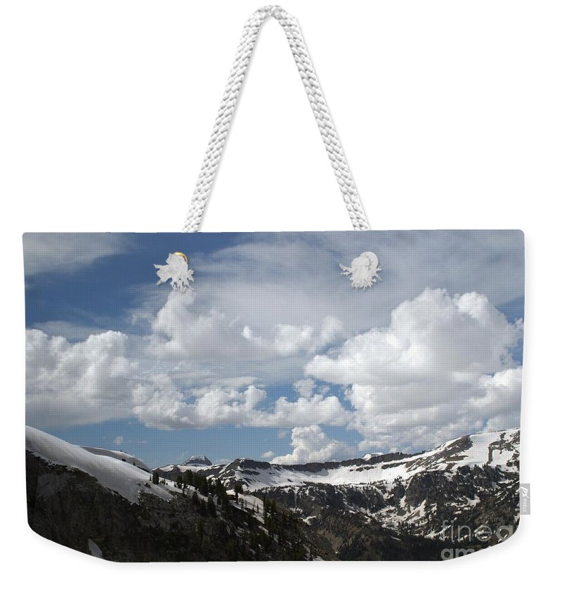 Rendezvous Mountain Weekender Tote Bag featuring the photograph A Curved View by Living Color Photography Lorraine Lynch