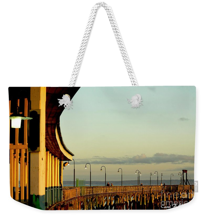 People Weekender Tote Bag featuring the photograph Playland Rye Beach Pier by Carol F Austin