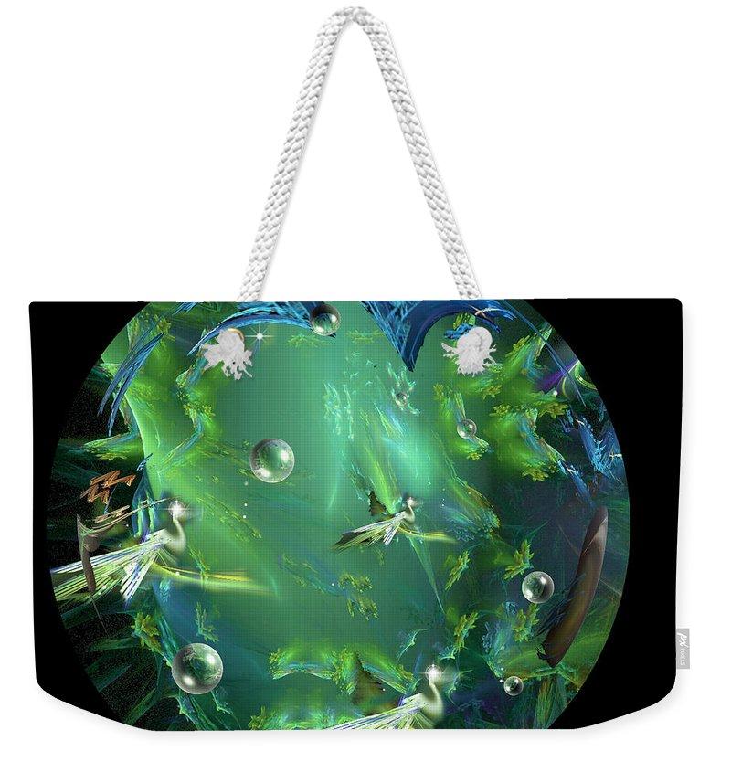 Phil Sadler Egrets Weekender Tote Bag featuring the digital art A Few Egrets by Phil Sadler