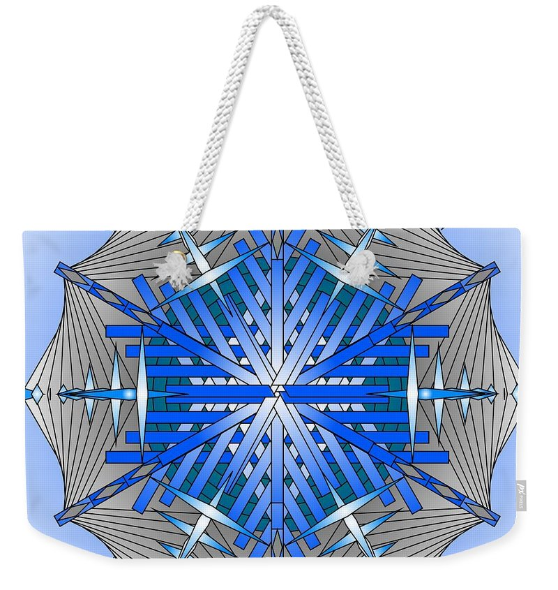 Mandalas Weekender Tote Bag featuring the digital art A Game Of Swords by Mario Carini