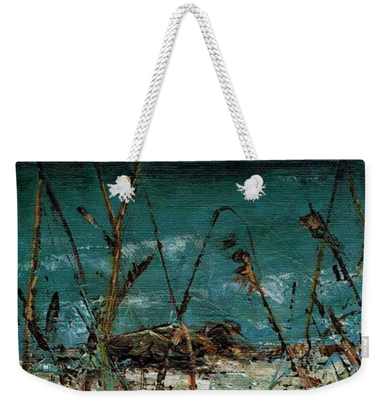 Pampas Grasses Weekender Tote Bag featuring the painting A Hot Wednesday Afternoon by Frances Marino
