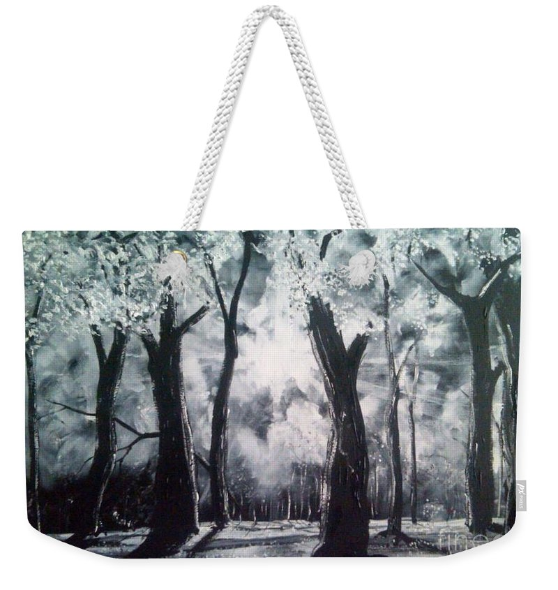 Landscape Weekender Tote Bag featuring the painting A Kiss For Eternity by Stefan Duncan