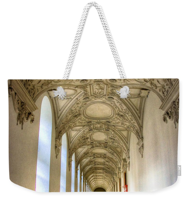 Corridor Weekender Tote Bag featuring the photograph A Long Way by Syed Aqueel